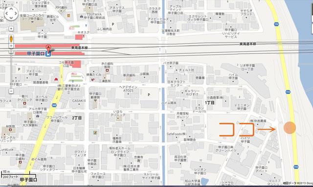 夜桜スポット地図