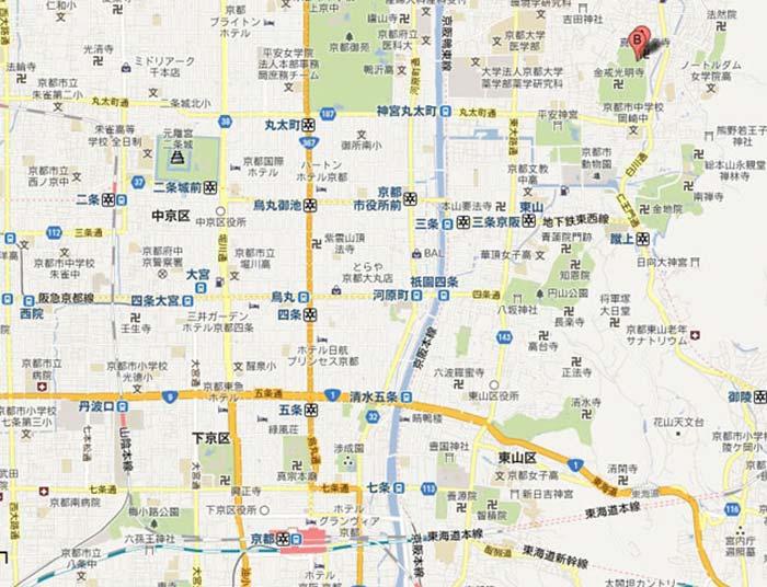 真如堂地図