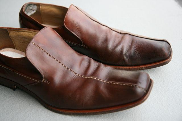 革靴陰干し02