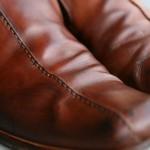 雨で水シミができた革靴を自宅で洗ってみた!洗濯後のワックス仕上げ編!