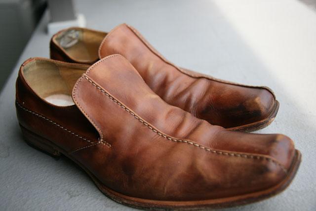 革靴陰干し04