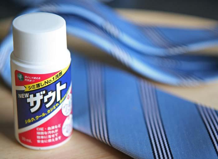 シルクのネクタイにシミが!家庭でできる簡単なしみ抜き方法挑戦!