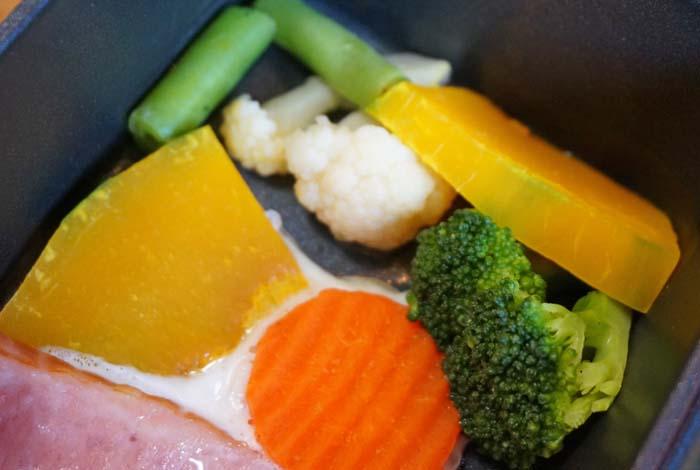 トースターパンの野菜の焼け具合