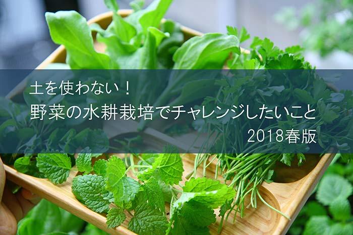 野菜のベランダ水耕栽培でチャレンジしたいこと2018年春!