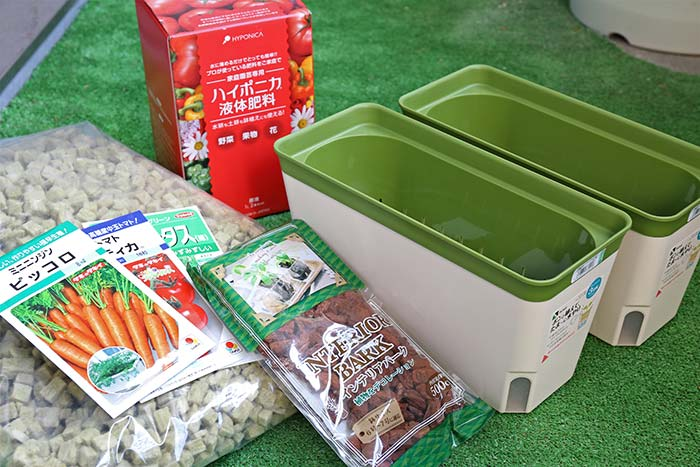 土を使わない野菜の栽培道具