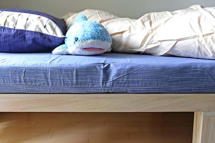 エアウィーブとすのこベッドの断面