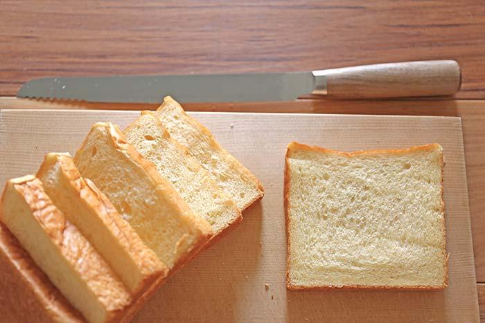 切れ味抜群!タダフサのパン切り包丁で食パンをスライスしてみた!