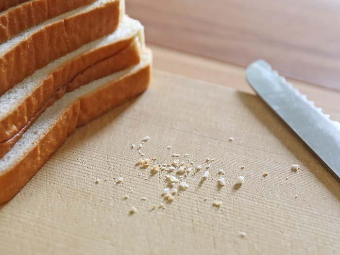 パンくずがほとんど出てない