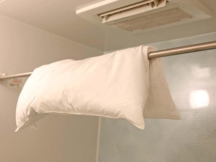 乾燥後の枕