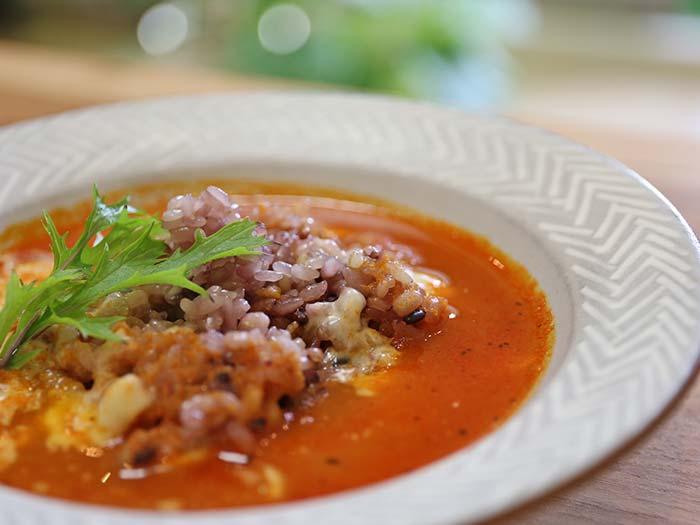 残ったスープで作ったリゾット