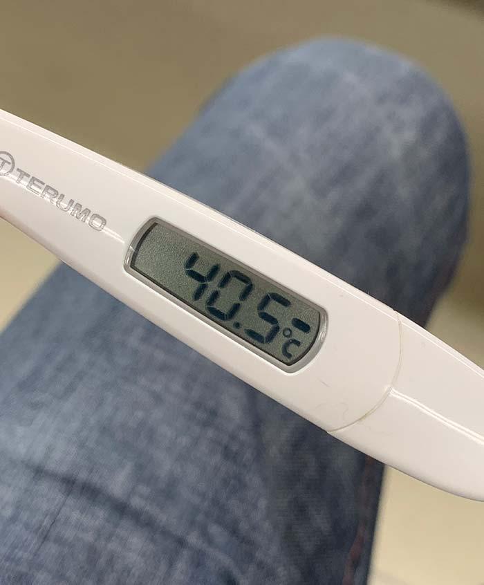 インフルエンザによる40℃越えの高熱