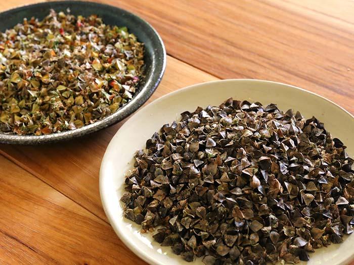ソバの脱穀と皮むきをしてみた!家庭でそばの実は製粉できるかな?