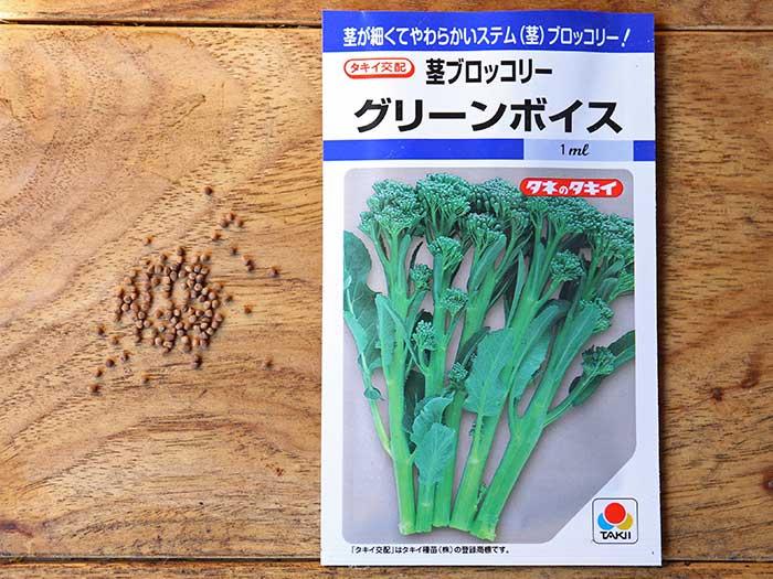 茎ブロッコリーグリーンボイスの種