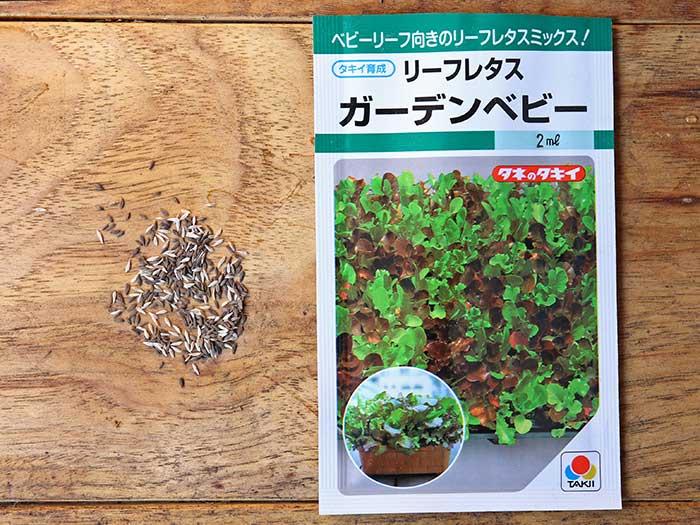 リーフレタスガーデンベビーの種