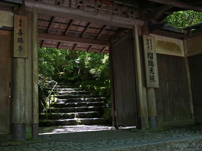 瑠璃光院の入り口