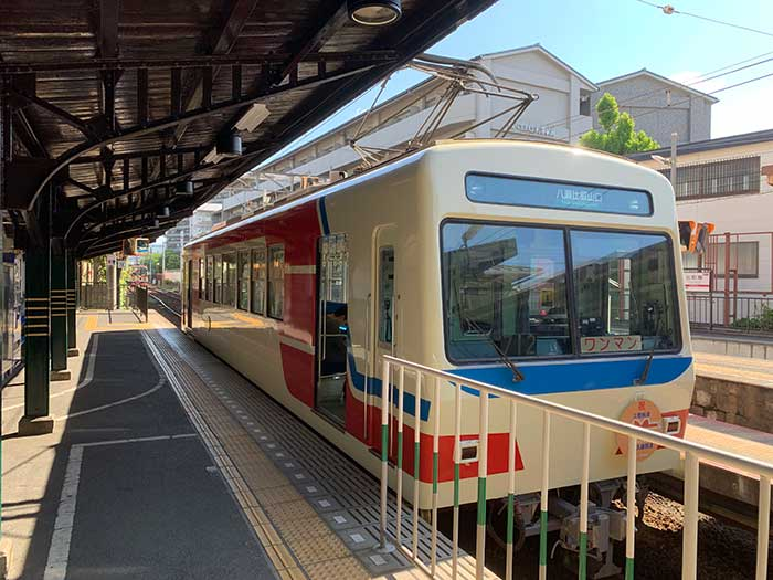 出町柳から叡山電車で移動