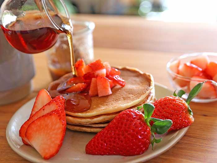 苺とパンケーキ