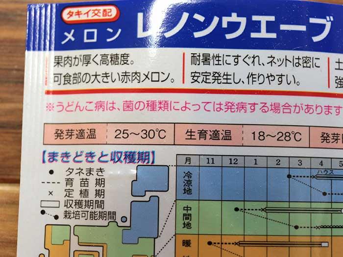メロンの発芽温度