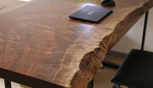 銘木の一枚板をデスク用に購入!ときめくくらい美しい木目に大満足!