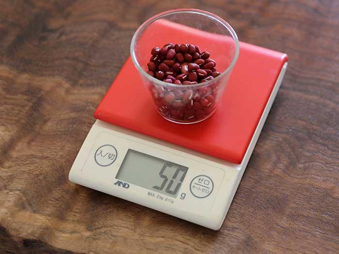 あんこをつくるための自家栽培の小豆