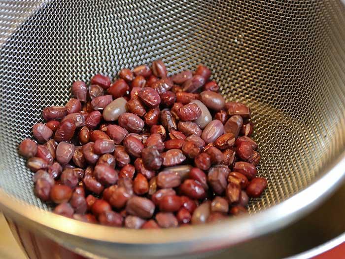 小豆の渋抜き