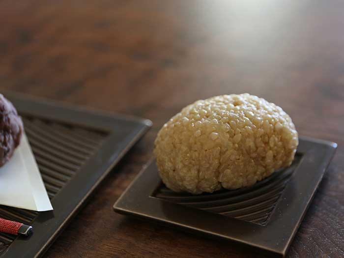 玄米のもち米でつくったおはぎ