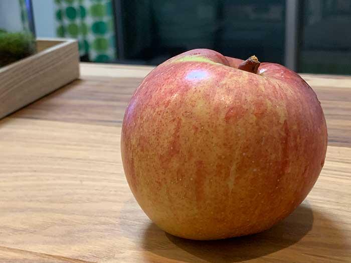 自家製リンゴが収穫できた