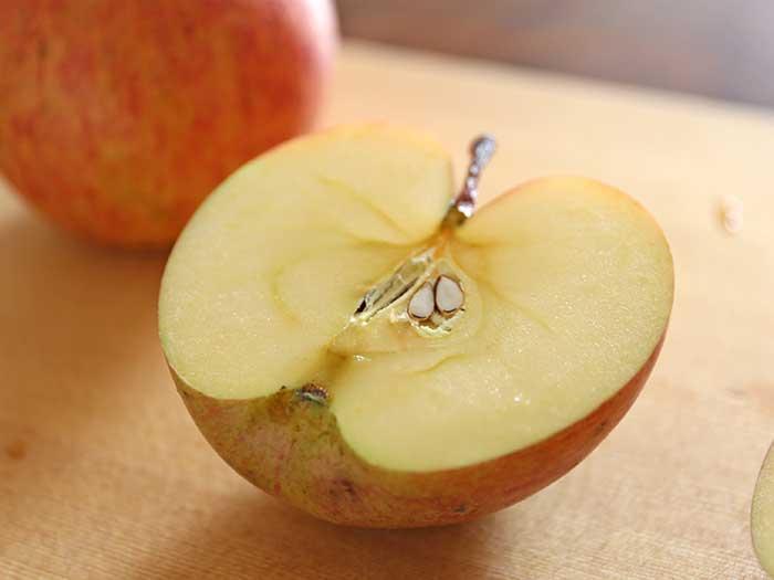 程よい甘みと酸味のリンゴ