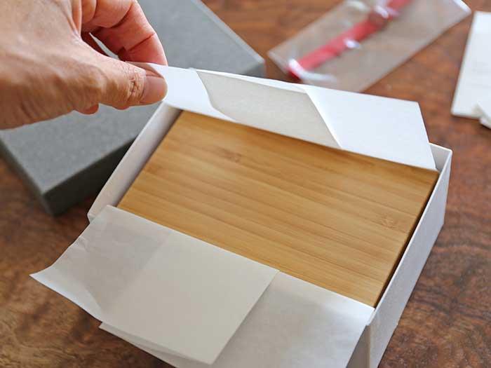 竹製弁当箱の開封