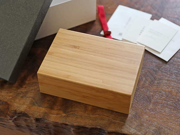 スタイリッシュな竹製弁当箱