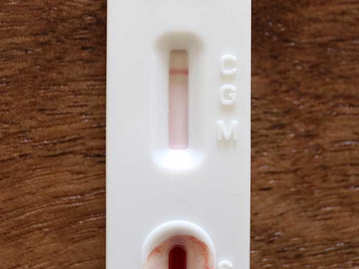 コロナの抗原検査の結果