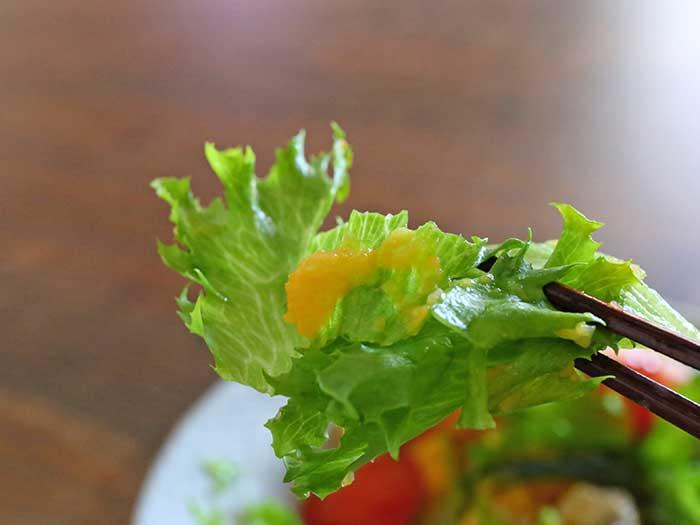 レタスの味を引き立てるドレッシング