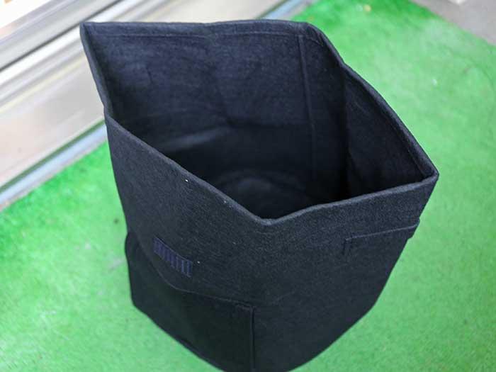 不織布でできたサツマイモ栽培用の袋