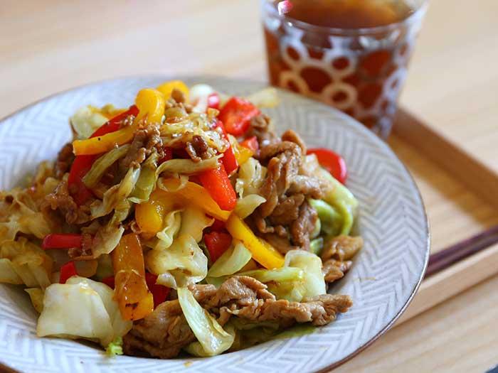 鉄のフライパンで作った野菜炒め